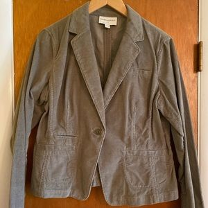 Banana Republic Green Corduroy Blazer